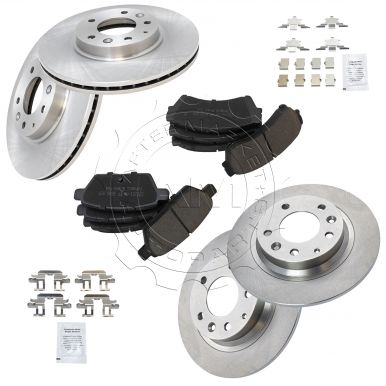 Nakamoto Brake Rotor /& Posi Ceramic Pad Front /& Rear Set for Mazda Ford Mercury
