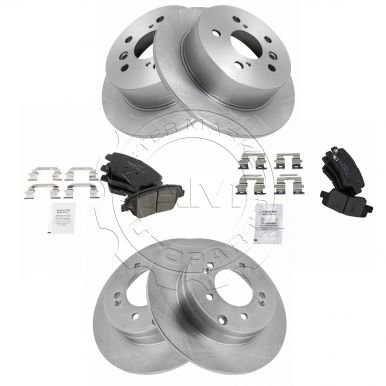For Hyundai Sonata Kia Optima Front+Rear Brake Rotors /& Ceramic Pads