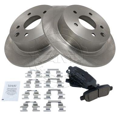 Front Brake Pad /& Rotor Kit Premium Posi Ceramic for Nissan Sentra Brand New