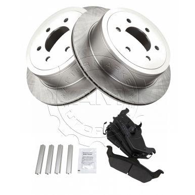 Rear Disc Brake Rotors /& Ceramic Pads Ford F-150 F150 Lincoln Mark LT 6-Lug