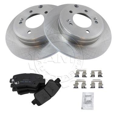 Nakamoto Rear Posi Ceramic Brake Pad /& Rotor Kit for Hyundai Sonata Kia Optima
