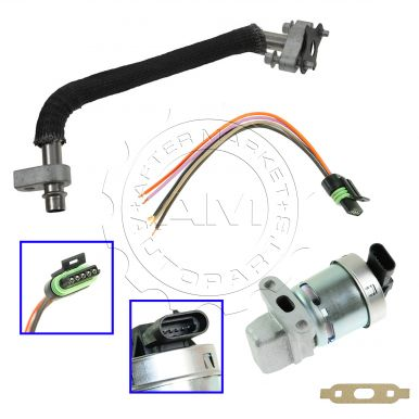chevy equinox pontiac torrent egr valve & tube kit with pigtail -  am-3397032326 at am autoparts