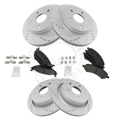 Nakamoto Brake Rotor Drilled Slotted Coated /& Ceramic Pad Front Set for Chrysler