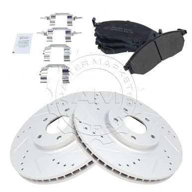 Nakamoto Semi-Metallic Brake Pad /& Rotor Front /& Rear Kit for Nissan Murano