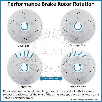 5485 Rear Brake Rotor Pair of 2